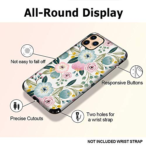 CUSTYPE Case for iPhone 11 Pro Max Case, iPhone 11 Pro Max Case Floral Girls Women Flower Design Soft Flexible TPU Shockproof Bumper Protective Cover for iPhone 11 Pro Max 6.5'' (Chrysanthemum 1)