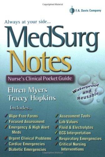 MedSurg Notes: Nurses Clinical Pocket ()