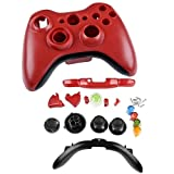 CommonByte Red Cover Shell Case Kit For Xbox 360 Wireless Controller, Best Gadgets