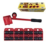 Moves Furniture Tool KangTeer Moves Furniture Lifter and 4 Furniture Moving Dolly Wheel(Red)