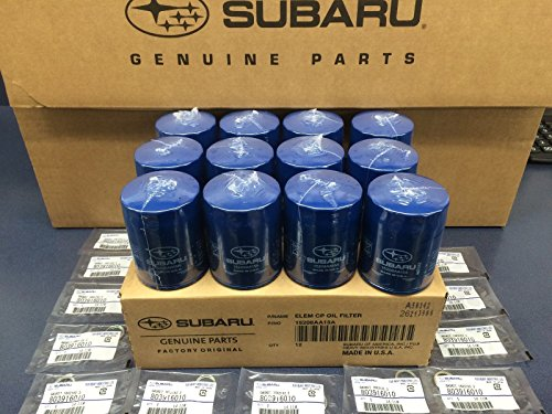 (2011-2018 OEM Subaru Engine Oil Filter & Gasket 15208AA15A Geniuine Impreza Legacy Forester 12 PACK)