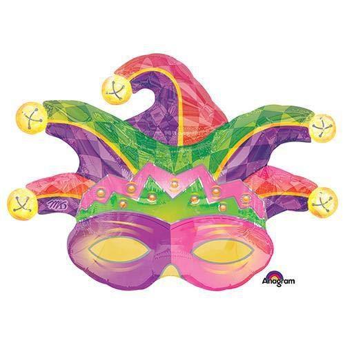 Anagram A1182 2 Mardi Gras Mask Foil Balloon 31 Multicolored
