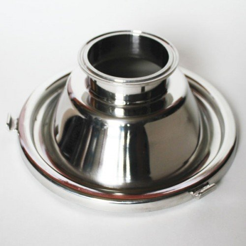 Moonshine Distiller Domed Stainless Steel Milk Can Lid with 3 Inch Tri-clover Fitting (Stainless Steel Distiller compare prices)