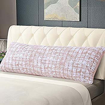 Amazon Com Mainstays Solid Grey Bamboo Fur Body Pillow