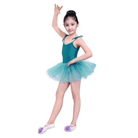 a297b1ac8 Girls Kids Spaghetti Camisole Ballet Leotard Tutu Dress Ballerina ...