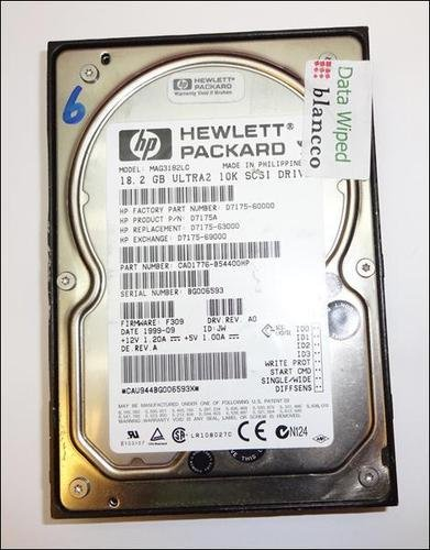 - HP 18.2GB Ultra-2 Wide SCSI LVD 80-Pin 3.5-inch HDD D7175-60000