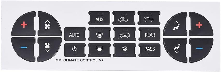 Fix Ruined Faded A//C Controls Aumo-mate AC Dash Button Replacement Decal Stickers for Select GM Vehicles AC Control /& Radio Button Sticker Repair Kit