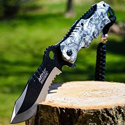 """8"""" M-TECH SPRING ASSISTED OPEN Blade Tactical FOLDING POCKET KNIFE Bowie Switch"""