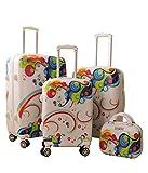 Cheap Zota 4 Piece Traveler Hardside Upright Spinner Luggage Set (Rainbow)