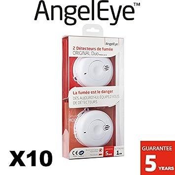 AngelEye - Lote de 10 detectores de humo NF AngelEye Original Duo so-501-ae-fr- autonomía 1 año - garantía 5 años: Amazon.es: Bricolaje y herramientas