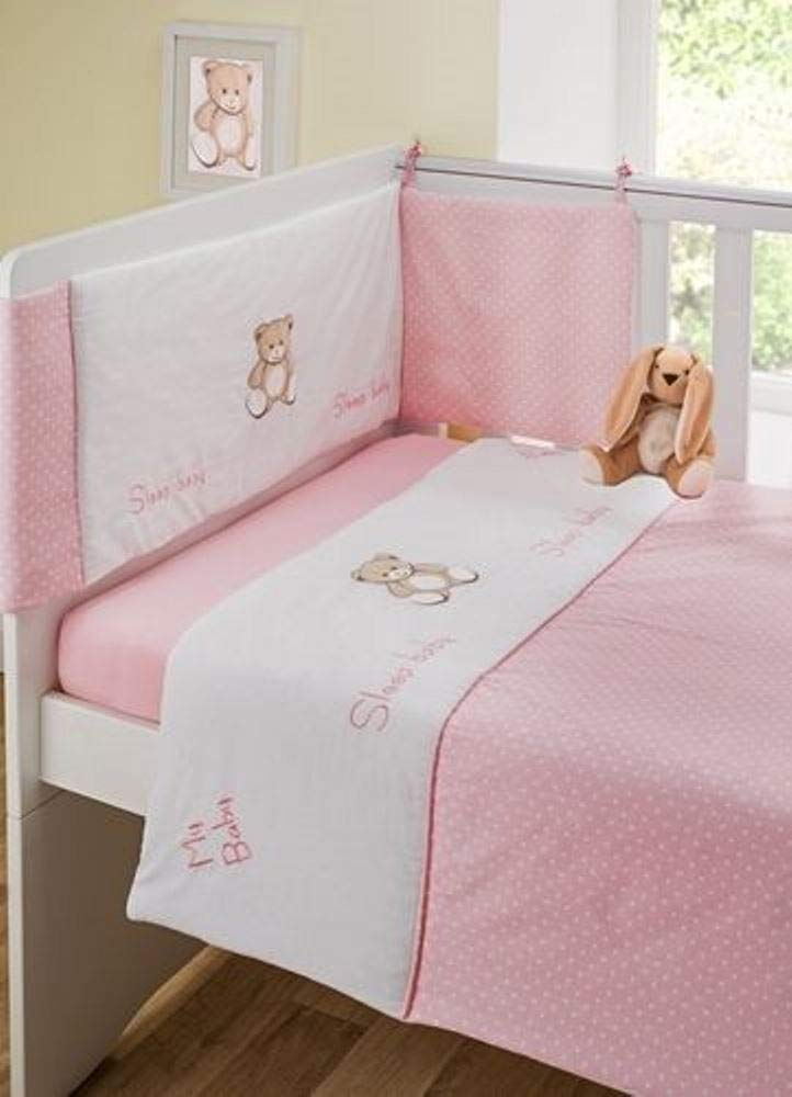 Tweet Dreams 3 Piece Cot Bale Quilt Bumper and Fitted Sheet