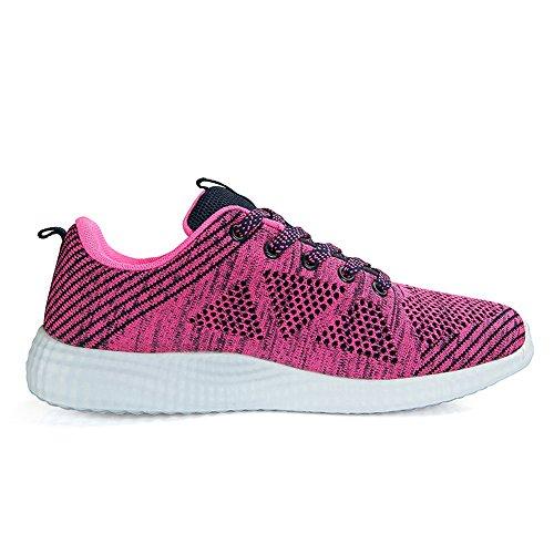 Ginnastica Atletico Sneaker Sport Running Corsa Scarpe Luce Rossa Palestra Uomo Da Donna wtRHYWqtF