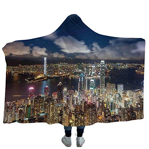 Monthly Theme Boards - MASCULINTY Mens Hooded Blanket Coastal Blankets Made from Our Best Relaxation Sleep Fabric Welcome On Board Life Buoy Wooden Sepia Fishnet Holiday Maritime Theme Print (Kids 50