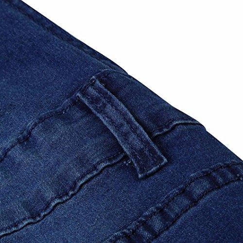 Casual Pieds Denim Haute De profond Pantalon Jeans La La Lastique Ripped Pantalon Trou Trou Automne Denim OHQ Womens Jumpsuit Bleu Salopettes En Hanche Mode Printemps CpqYwU8