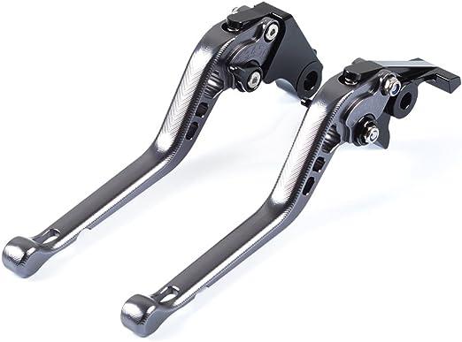 Tencasi Titan Cnc 3d Lang Bremshebel Kupplungshebel 6 Fach Verstellbar Für Suzuki Sv650 1999 2009 Dl650w Strom 2004 2010 Auto