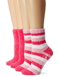 Dr. Scholl's Women's 2 Pack Striped Crew Spa Socks