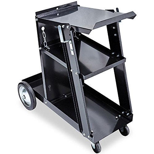 Eastwood 3-Tier Welding Cart Mig Welder Portable Heavy Duty for Plasma Cutter TIG Arc with Tank Storage Trolley Workshop Organizer