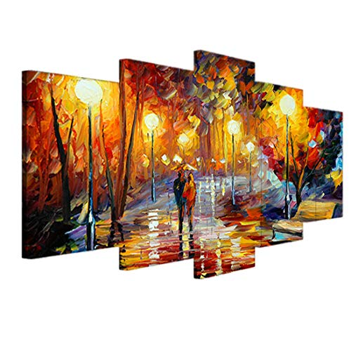 Modern Oil Painting - Figurative Painting Abstract Artwork Ready to Hang for Home Office Decoration ()