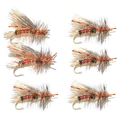 Royal Red Stimulator Rubber Legs Trout Dry Fly 6 Flies Size 8