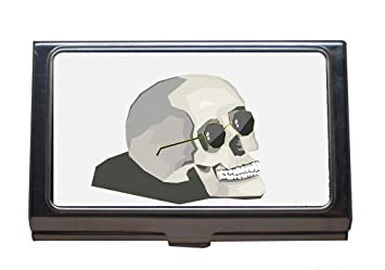 Amazon Professional Business Card Holder Skull Fun Retro