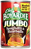 Chef Boyardee Jumbo Spaghetti and Meatballs, 14.5-Ounce Cans (Pack of 12)