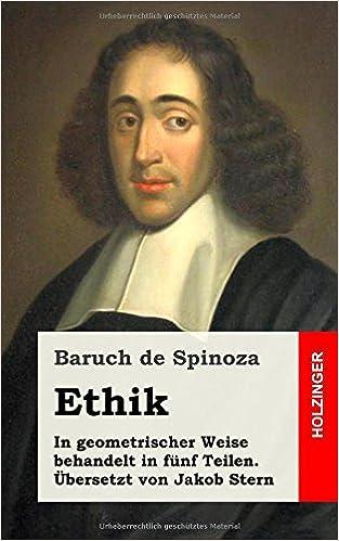 Ethik German Edition Baruch De Spinoza 9781484105177