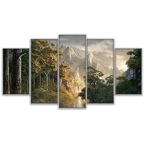 marca famosa Frame BAIF 5 Piezas Lienzo Lienzo Lienzo de Pintura Pintura HD Home Decor Lienzo Cartel de la Parojo Moderno Marco de Arte D 5 Panel Paisaje Sala de Estar Imagen Modular 10x15 10x20 10x25cm  al precio mas bajo