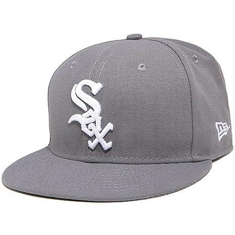 new concept e9966 c86bd Amazon.com   New Era Hat Chicago White Sox Mlb Basic Gray Fitted Cap    Clothing
