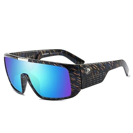 Lzcaure-SP Gafas Ciclismo Gafas de Sol con Espejo siamés ...