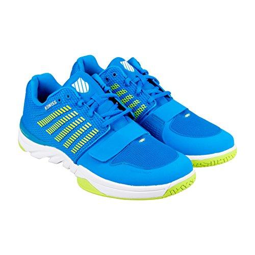 K-Swiss Men's X Court Cross-Trainer Shoe, Brilliant Blue/Optic Yellow/White, 9.5 M US