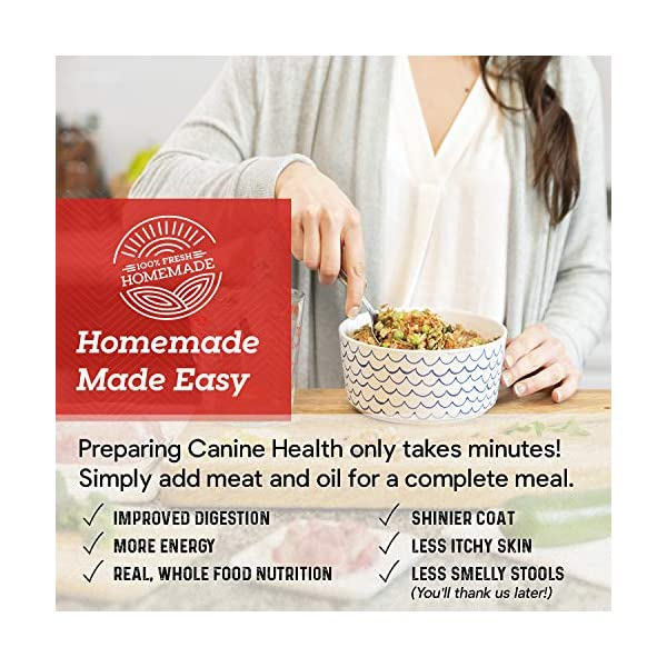 Dr. Harvey's Canine Health Miracle Dog Food, Human Grade Dehydrated Base Mix for Dogs with Organic Whole Grains and Vegetables 5