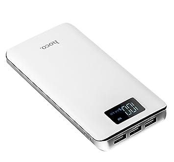 Batería externa portátil Hoco B23B 20000 mAh Gran Capacidad Batería de viaje con 3 Puertos Usb
