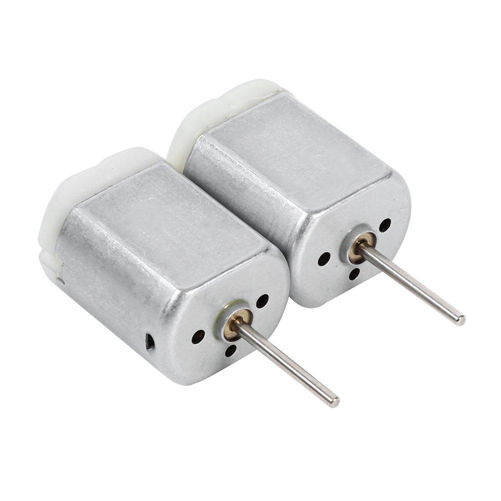 2 pcs/pair 22mm D Flat Shaft Door Lock Actuator Motor, Keenso 12V DC Car Door Lock Actuator Motor Repair FC-280SC-20150 Long D Spindle, Power Locking Repair Engine
