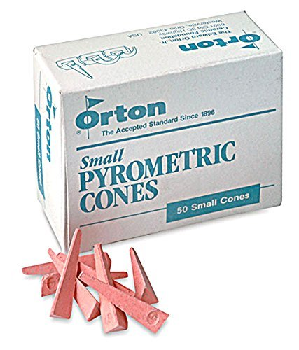 Pyrometric Cones For Monitoring Ceramic Kiln Firings-Cone 6 (1 Pkg/50)