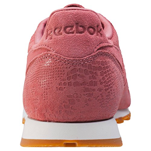 Reebok Cl Lthr Clean Exotics, Zapatillas de Deporte para Mujer Rosa (Sandy Rose / Chalk / Gum)