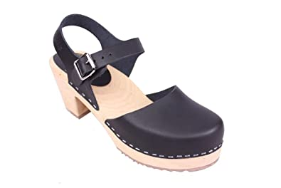 1f5deba1249 Lotta From Stockholm Women's Highwood Ankle-High Leather Clogs