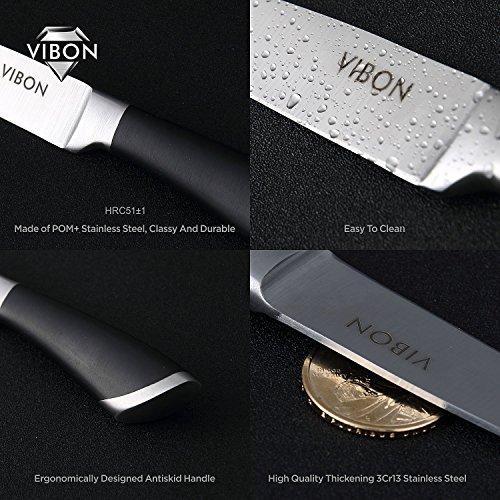 VIBON 3.5 Inches Paring Knife, Fruit Knife kitchen Vegetable Cutlery by VIBON (Image #5)