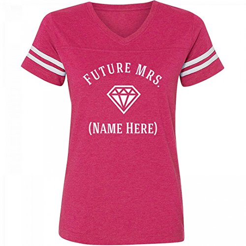 Custom Future Mrs. Diamond: Ladies Relaxed Fit Vintage Sports - Shirt Knit Blended Sport Jersey