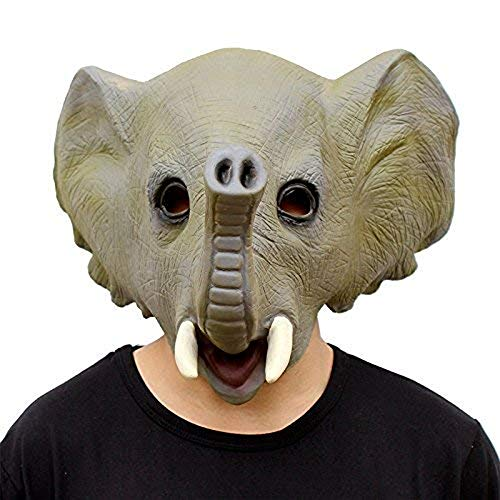Waylike Halloween Costume Party Elephant Mask Latex Animal Mask Green ()
