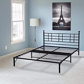 Best Price Mattress Model L Easy Set-up Steel Platform Bed Frame, Queen,