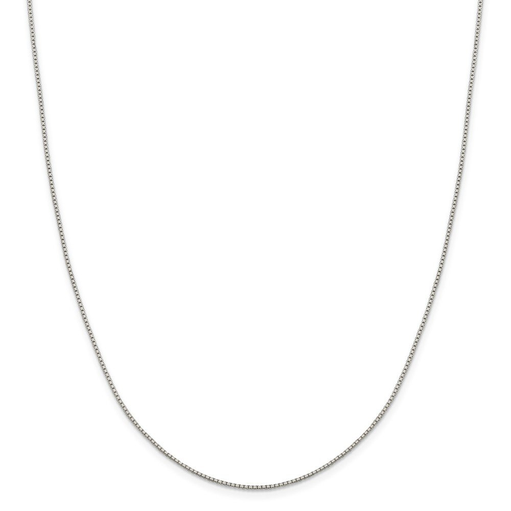 20 Length 925 Sterling Silver 1.15mm 8 Side Diamond-cut Box Chain Necklace
