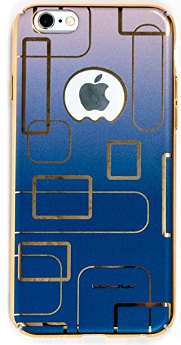 IPhone 6/6S Case, YogaCase MetalLuxe Luxury Design Metal iPhone Cover (Blue Circles)