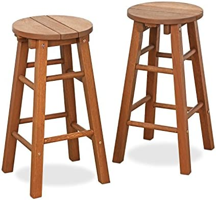Furinno FG17629 Tioman Outdoor Hardwood Patio Furniture Promo Arch Bar Stool Set of 2 - the best outdoor bar stool for the money