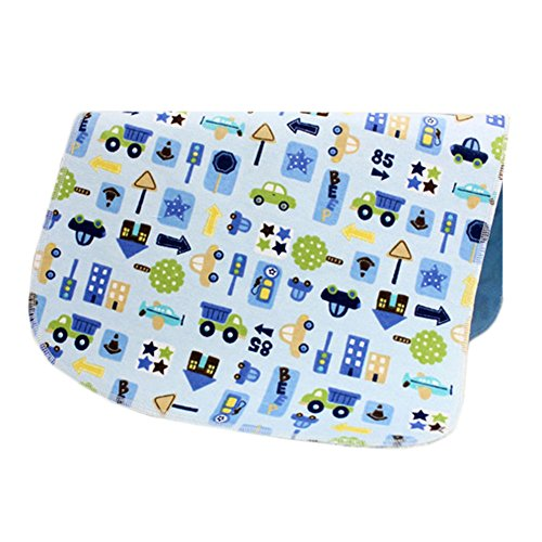 [1927 Inch] Lovely Waterproof Breathable Baby Urine Pad-Blue Cars