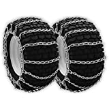 Snow/Mud Tire Chains 480/4.00x8 480/4.00-8 2-Link Blower Thower Pair