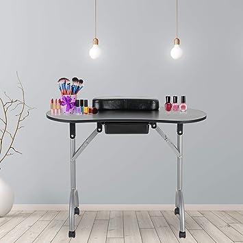 Amazon.com: LEIBOU - Mesa de manicura profesional plegable ...