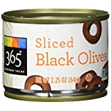 365 Everyday Value Sliced Black Olives, 2.25 oz