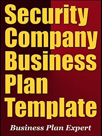 Amazon.com: Security Company Business Plan Template (Including 10 ...