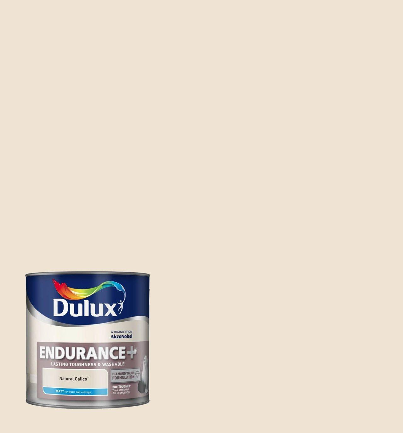 Dulux endurance matt paint for walls 2 5 l natural calico amazon co uk diy tools