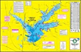 Topographical Fishing Map of Gibbons Creek Reservior - With GPS Hotspots